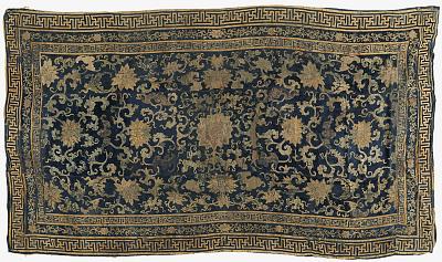 Cut velvet hanging tapestry