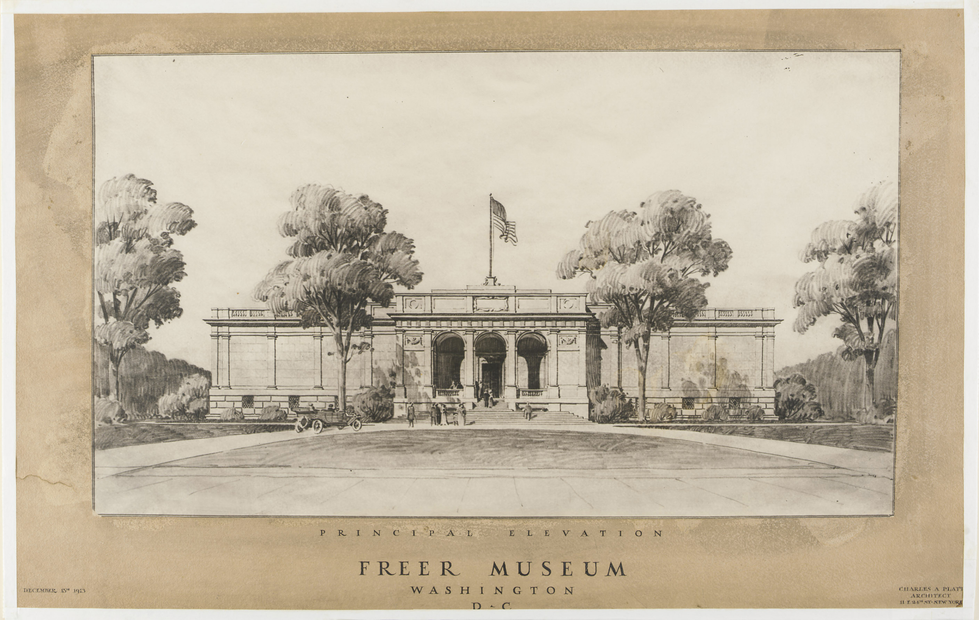 FSC-GR-304; Drawing of 'Freer Museum' dated December 15, 1913