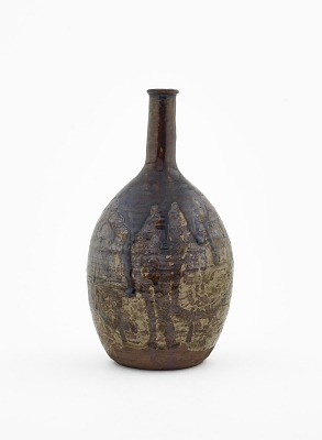 Shidoro ware sake bottle