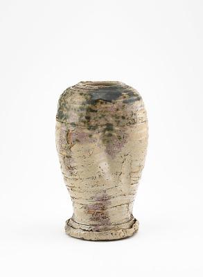 Vase in Oribe style, probably Seto ware
