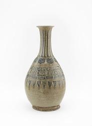 Ofuke or Seto ware sake bottle