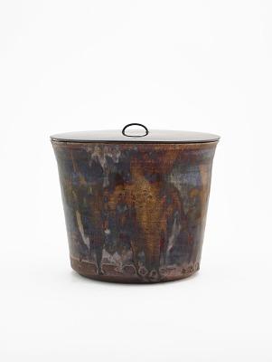 Seto ware tea ceremony water jar (hitoeguchi mizusashi)