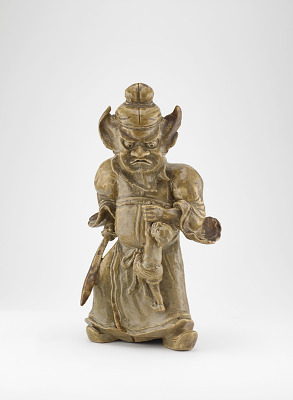 Figure of Shoki the Demon Queller, Rakurakuen ware