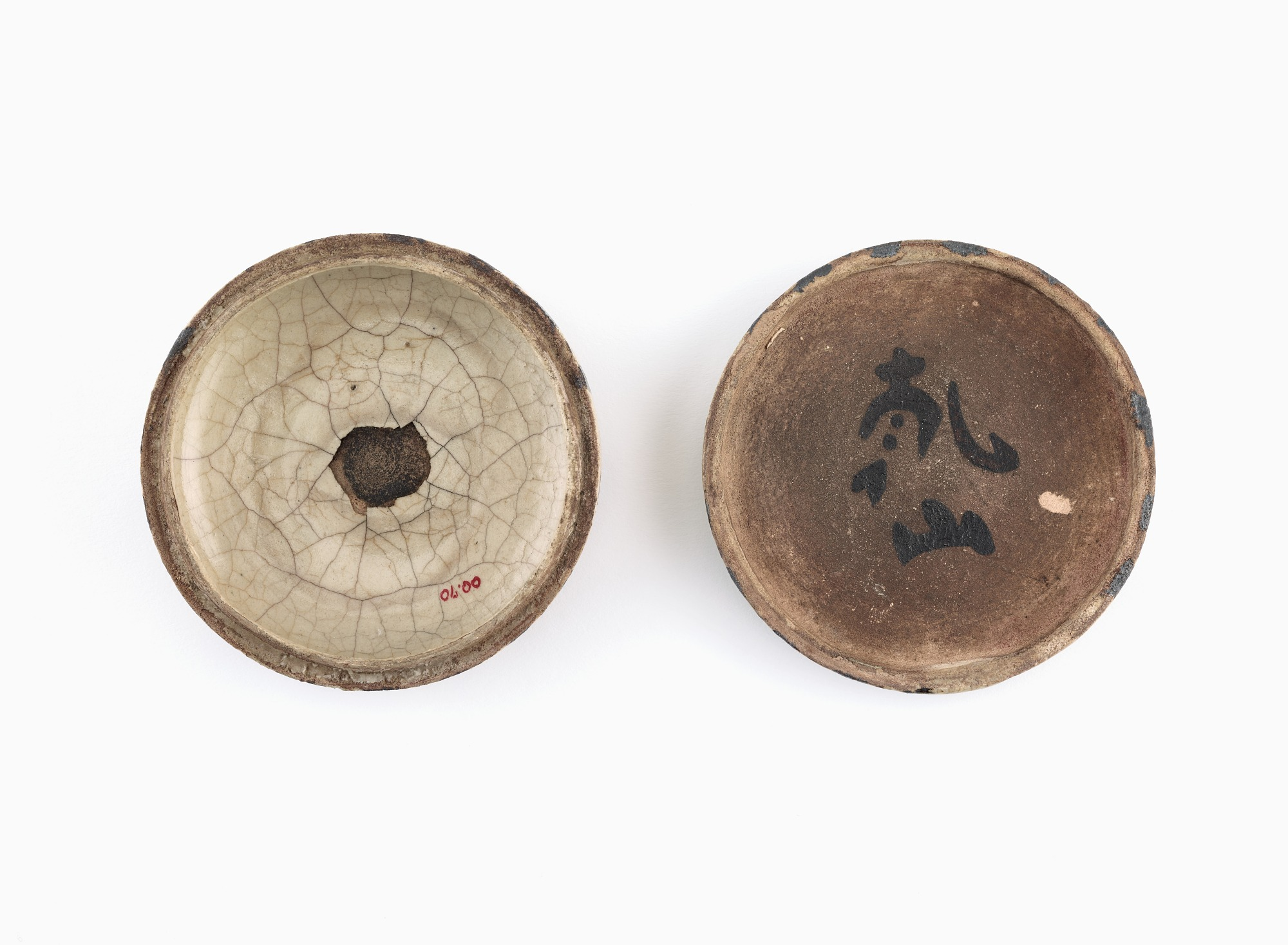 Oribe-style incense container with design of kudzu