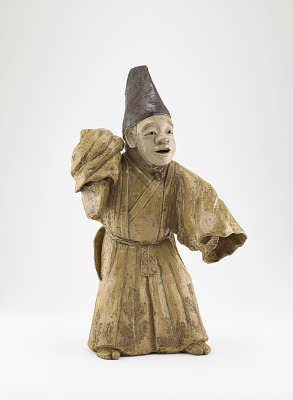 Figure of Kyogen performer in role of Sambaso