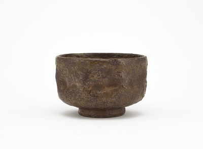 Tea bowl with indented sides