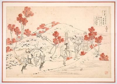 Preparatory drawing for a print in the series <em>Hyakunin isshu uba ge etoki</em>: Kisen Hoshi