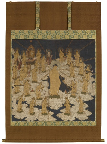 Image 1 for Welcoming Descent of the Buddha of Infinite Light and Twenty-Five Bodhisattvas