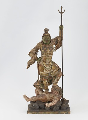 Zocho-ten, Guardian of the South, one of a set of four Shitenno (Guardian Figures)
