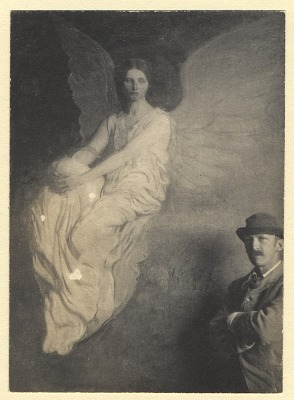 Abbott Handerson Thayer with the painting