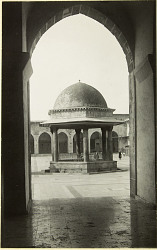 Great Mosque. Courtyard, N wing with large fountain. [graphic]