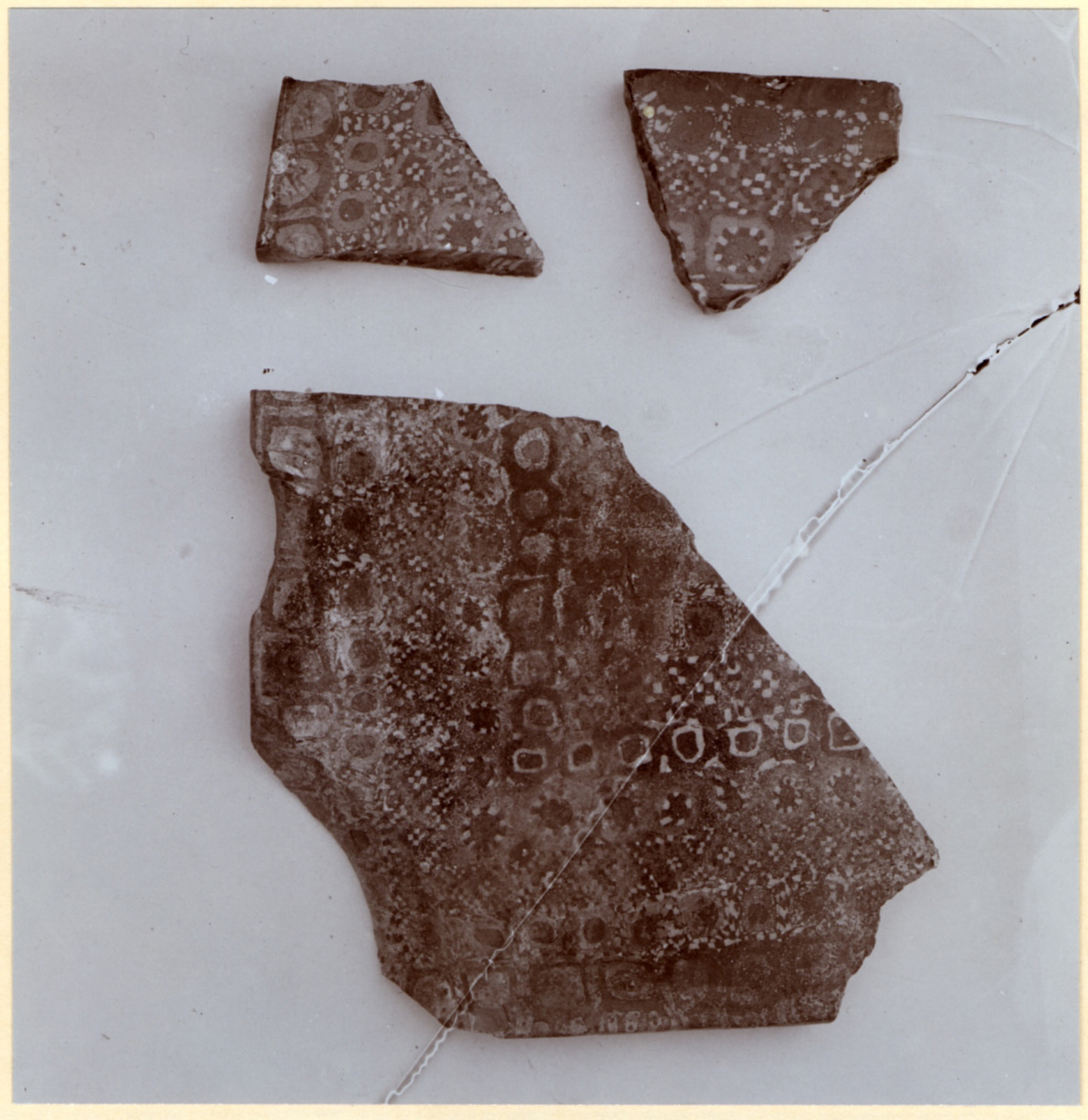 Excavation of Samarra (Iraq): Fragments of Ceramic Tiles with Decorative Motifs