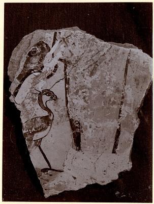 Excavation of Samarra (Iraq): Fragment of Wall-Paintings, from the Palace of the Caliph (Dar al-Khilafa, Jawsaq al-Khaqani, Bayt al-Khalifah), Square Reception-Hall Block, Room Identified as a Harem [graphic]