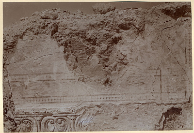 Excavation of Samarra (Iraq): West of Sur <U+02BF>Isa, House XIII, Room 12, View of Wall Decorated with Frieze of Birds [graphic]
