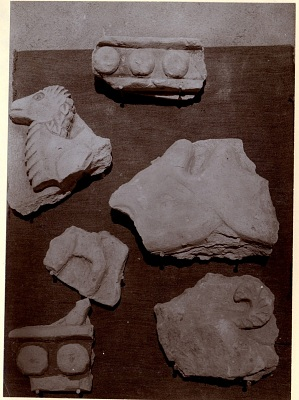 Excavation of Samarra (Iraq): Fragments of a Frieze with Camel Figures, from the Palace of the Caliph (Dar al-Khilafa, Jawsaq al-Khaqani, Bayt al-Khalifah), Small Serdab [graphic]
