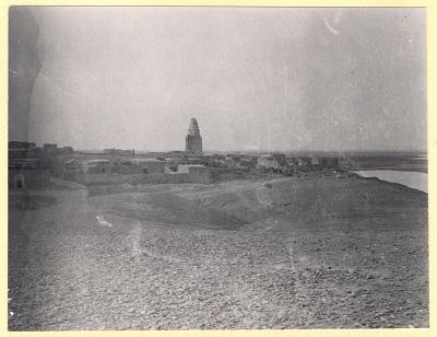 Excavation of Samarra (Iraq): View of Mausoleum Imam al-Dur [graphic]