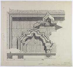 Aleppo (Syria): Salihin Cemetery, Mosque of Abraham (Maqām Ibrāhīm), Minaret: Drawing of Architectural Detail [drawing]
