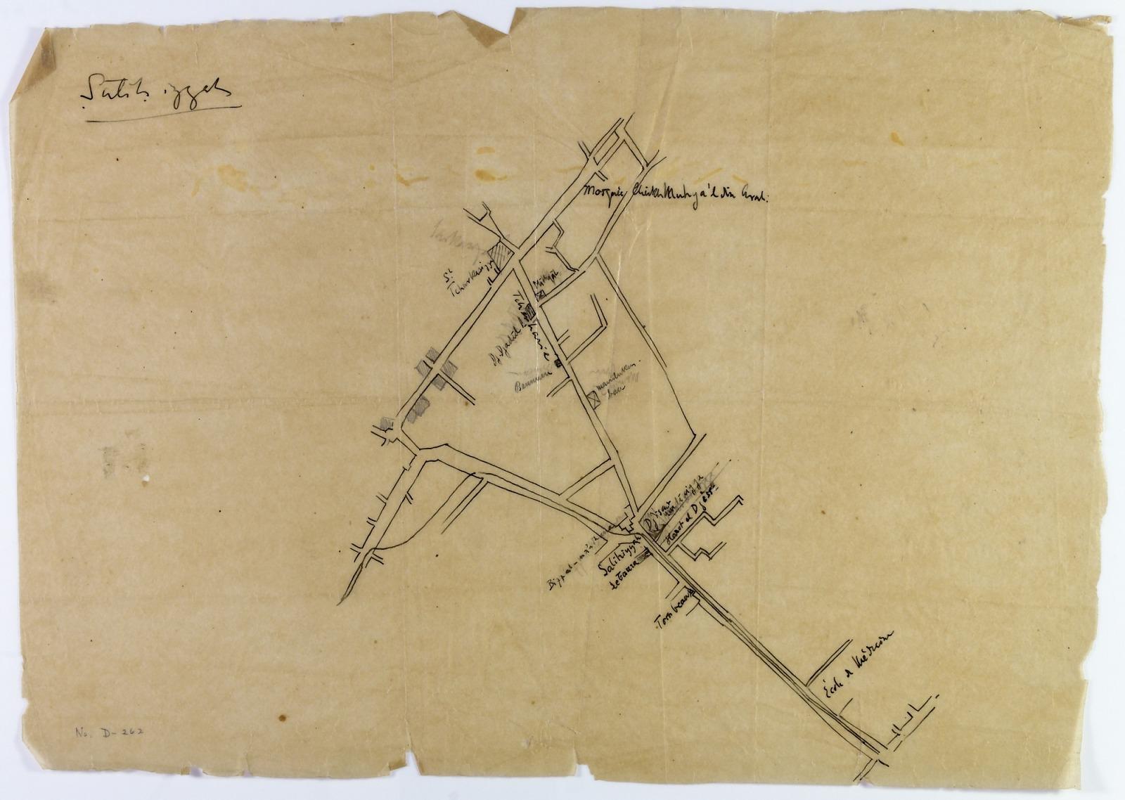 Resources :: Damascus (Syria): Penciled Map of Salihiya Quarter ...