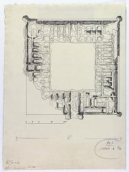 Zafarani (Iran): Ruins of Caravansarai: Ground Plan [drawing]