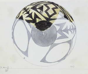 images for Excavation of Persepolis (Iran): Reconstruction of Pottery with Painted Patterns: Two Bowls with Geometrical Ornaments, from Prehistoric Mound of Tal-i Bakun (PPA) drawing-thumbnail 2