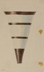 Excavation of Persepolis (Iran): Reconstruction of Pottery with Painted Patterns: Three Conical Vases with Geometrical Ornaments, from Prehistoric Mound of Tal-i Bakun (PPA) [drawing]