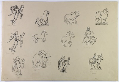 Persia: Animal Figures from Coins [drawing]