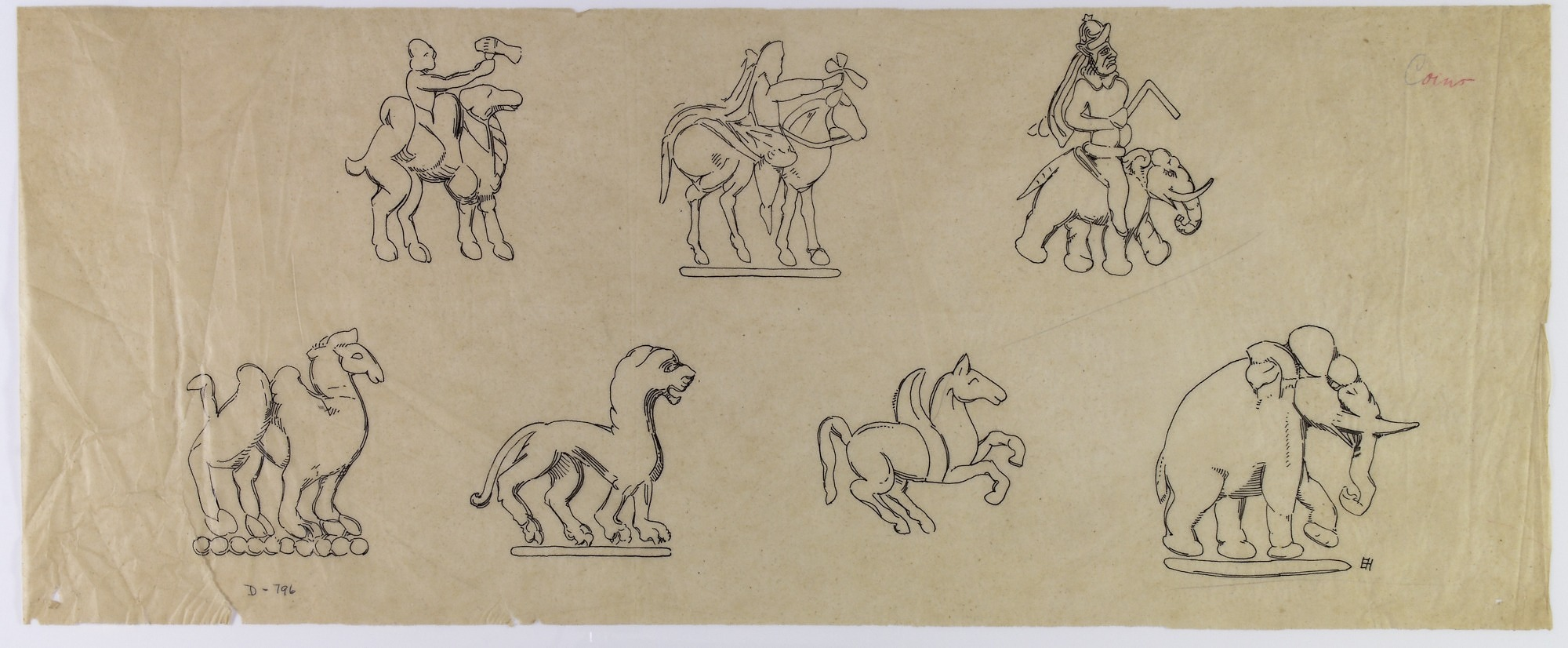 Iran: Animal Figures from Coins [drawing]
