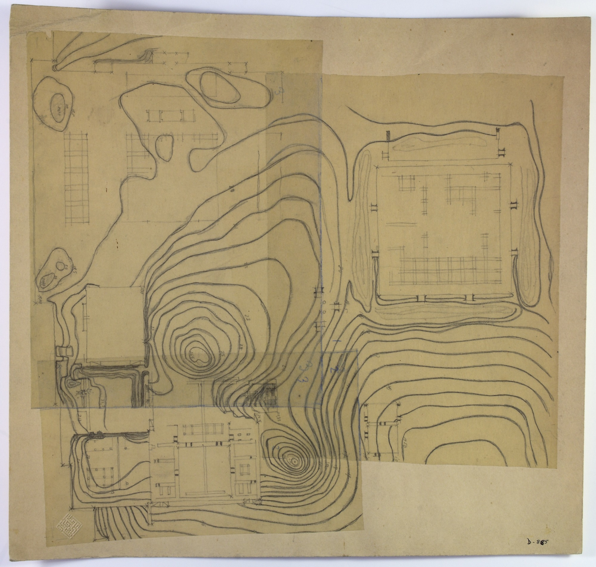images for Excavation of Persepolis (Iran): Terrace Complex: Preliminary Ground Plan drawing