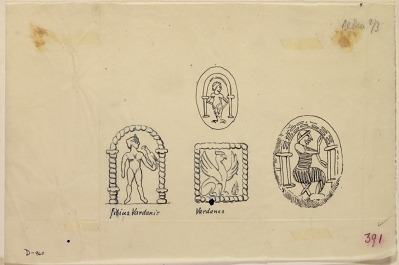Various Devices on Parthian Coins [drawing]