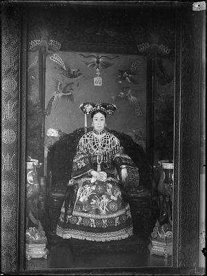Photograph of a portrait of the Empress Dowager painted by Katharine Carl (1865 - 1938) May, 1904