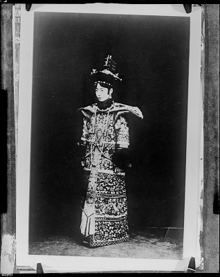 Photograph of Empress Wan Rong (1906-1946), consort to the Xuantong Emperor (1906-1967)