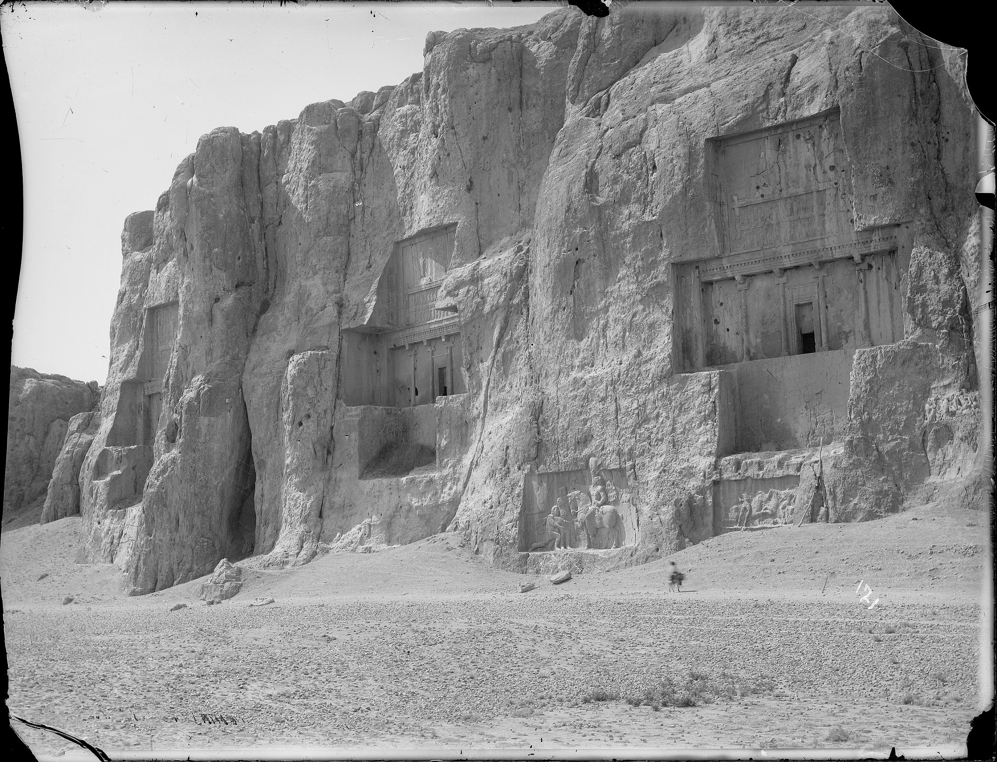 images for Naqsh-i Rustam: Sacred Precinct with Achaemenid Tombs and Sasanian Rock Reliefs Carved into the Husain Kuh Cliff graphic