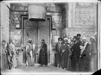 Baghdad (Iraq): Mashhad al-Kazimiya: Religious Dignitaries in front of Entrance Portal [graphic]
