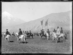 Dasht-i Lar Region, Mount Damavand in Background: Shah's Escort Regiment [graphic]