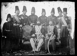 Group Portrait: Earlier Years of Nasir Al-Din Shah's Court [graphic]