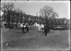 Tehran (Iran): Maydan-i Tupkhana (also known as Maydan-i Sipah or Square of Canons): View of Tents and Canons [graphic]