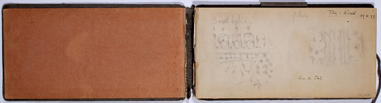 Ernst Herzfeld Papers, Series 2: Sketchbooks; Subseries 2.01: Persia, 1923: Sketchbook 01