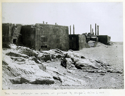 Persepolis (Iran): Northwestern Corner of Terrace Complex and Outcrops of Unwrought Bedrock [graphic]