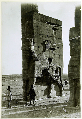 Persepolis (Iran): Gate of All Lands: Colossal Sculptures Depicting Man-Bulls [graphic]