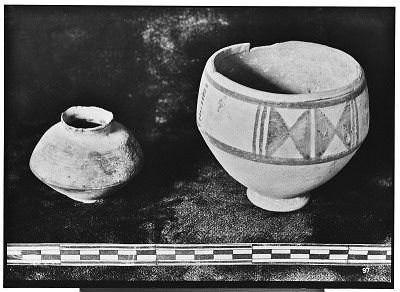 Vicinity of Nihavand (Iran): Two Ceramic Vessels with Painted Pattern and Geometrical Ornamentation, from Prehistoric Mound of Tepe Giyan [graphic]