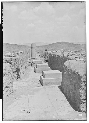 Excavation of Pasargadae (Iran): Palace 'P', Hypostyle Hall: View of Column Bases with Double Square Plinth [graphic]