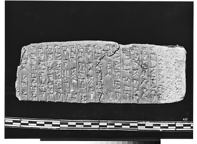 Susa (Extinct city) (Iran): Cuneiform Tablet [graphic]