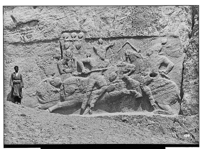 Naqsh-i Rustam (Iran): Sasanian Reliefs Depicting the Equestrian Combat of King Bahram II [graphic]