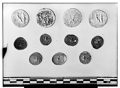 Reverse of Eleven Coins of the Parthian Empire [graphic]