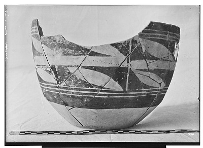 Excavation of Persepolis (Iran): Fragments of Ceramic Vessel with Painted Patterns, from Prehistoric Mound of Tal-i Bakun (PPA) [graphic]