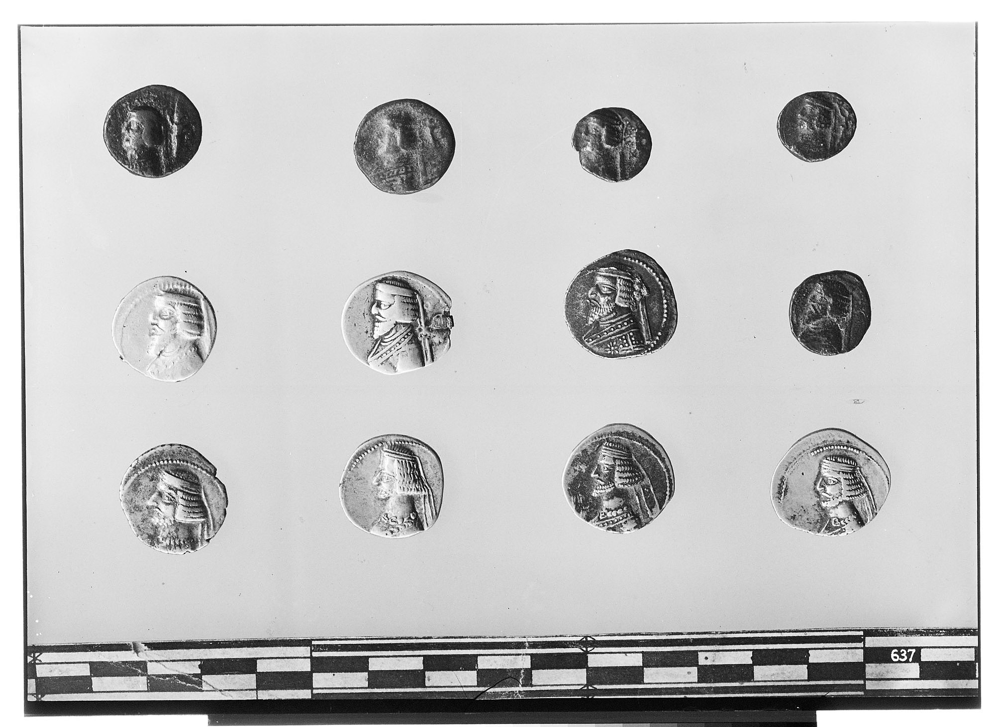 Obverse of Twelve Coins of the Parthian Empire [graphic]
