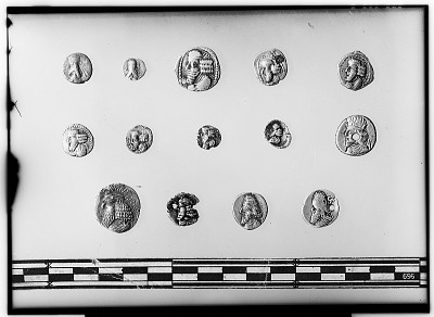 Obverse of Fourteen Small Unidentified Coins [graphic]