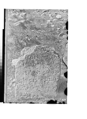 Paikuli (Iraq): Ruins of the Sasanian Monument, Inscribed Stone Block, Middle Persian Version [graphic]