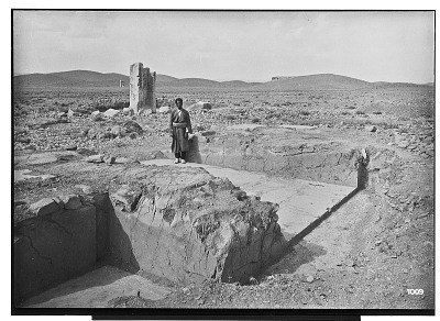 Excavation of Pasargadae (Iran): Gate R (Gate House, Palace with the Relief): View of South-East Doorway [graphic]