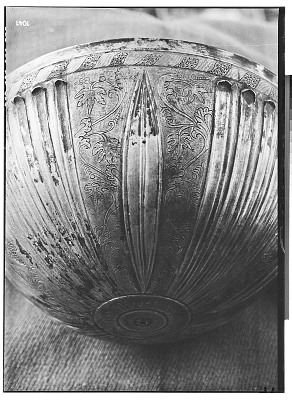 Deep Parthian Silver Bowl with Incised Ornamentation [graphic]